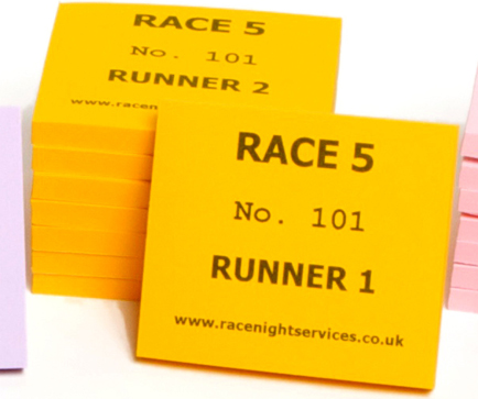 Betting slips for a race night game kings sports betting