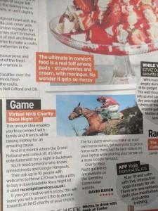 Virtual Race Night Downloads Horse Racing NHS Fundraising Ideas Sunday Mirror April 20201-